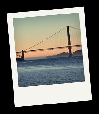 Polaroid Picture of San Francisco Bay